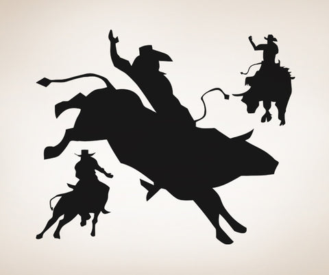 Vinyl Wall Decal Sticker Rodeo Time Os Aa410