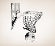 Vinyl Wall Decal Sticker Basketball Hoop and Ball #OS_AA504