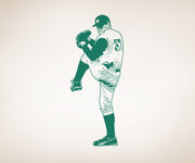 Vinyl Wall Decal Sticker Baseball Pitcher #OS_AA179