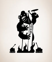 Vinyl Wall Decal Sticker Gorilla Attack #OS_MB487