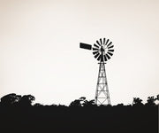 Vinyl Wall Decal Sticker Field with Australian Windmill #OS_AA500