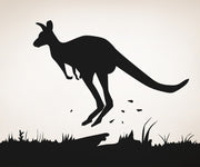 Vinyl Wall Decal Sticker Jumping Kangaroo #OS_AA478
