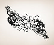 Vinyl Wall Decal Sticker Plumeria Flower Swirl #OS_AA375