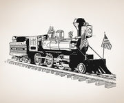 Vinyl Wall Decal Sticker Old Fashioned Train #OS_AA213