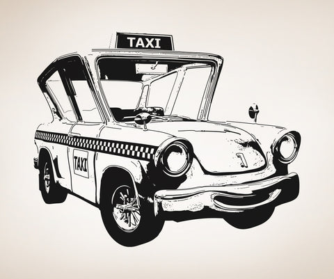 Vinyl Wall Decal Sticker Taxicab #OS_AA564