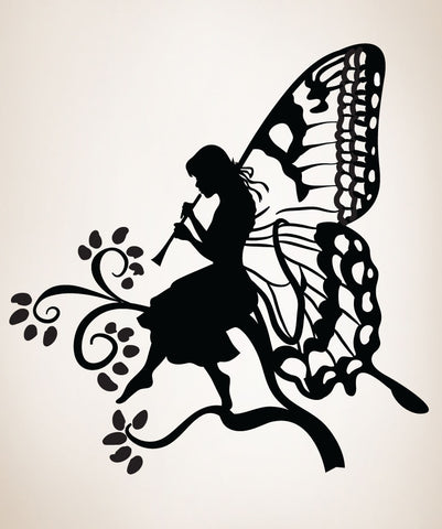 Vinyl Wall Decal Sticker Butterfly Fairy #OS_DC230