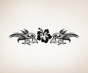 Vinyl Wall Decal Sticker Tribal Hibiscus Flower #OS_AA242
