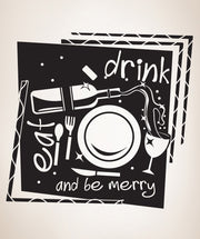 Vinyl Wall Decal Sticker Eat Drink and Be Merry #OS_DC309