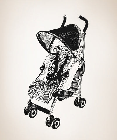 Vinyl Wall Decal Sticker Stroller #OS_AA206