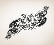Vinyl Wall Decal Sticker Hawaiian Flower Swirl #OS_AA373