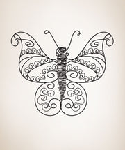 Vinyl Wall Decal Sticker Swirly Butterfly #OS_DC184
