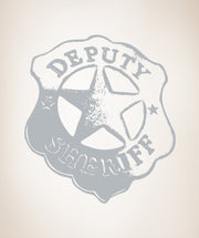 Vinyl Wall Decal Sticker Deputy Sheriff Badge #OS_AA357