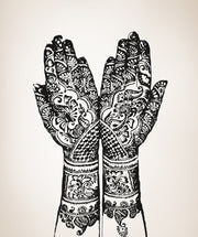 Henna Hands Wall Decal. India Home Decor. #OS_AA383