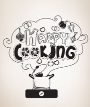 Vinyl Wall Decal Sticker Happy Cooking #OS_DC315
