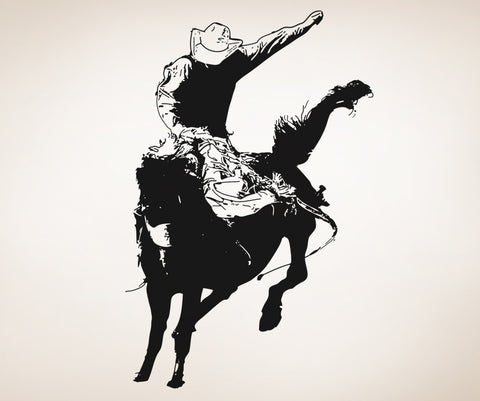Vinyl Wall Decal Sticker Rodeo Bronc Rider #OS_AA408