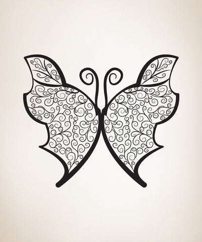 Vinyl Wall Decal Sticker Intricate Butterfly #OS_DC228
