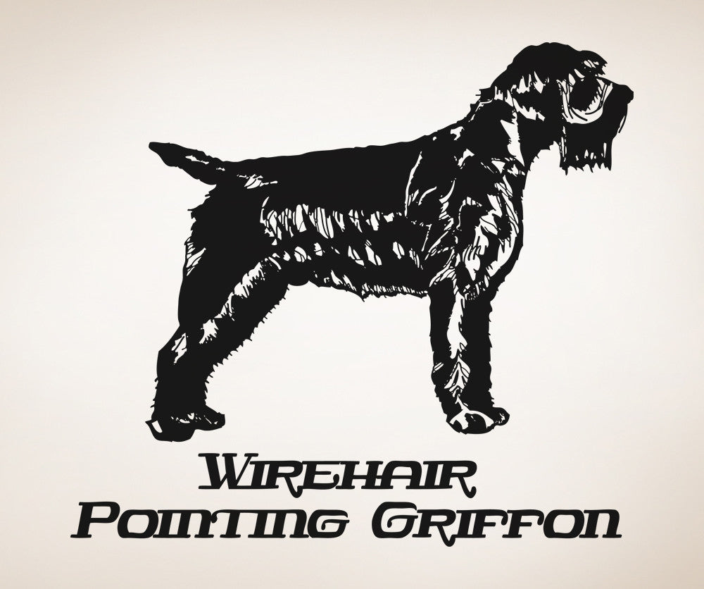 Vinyl Wall Decal Sticker Wirehair Pointing Griffon #OS_AA633