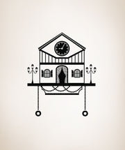 Vinyl Wall Decal Sticker Cuckoo Clock #OS_DC186