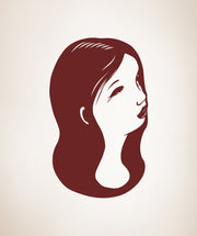 Vinyl Wall Decal Sticker Girl Portrait #OS_MB499