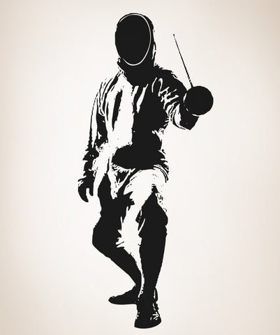 Vinyl Wall Decal Sticker Fencer #OS_AA700