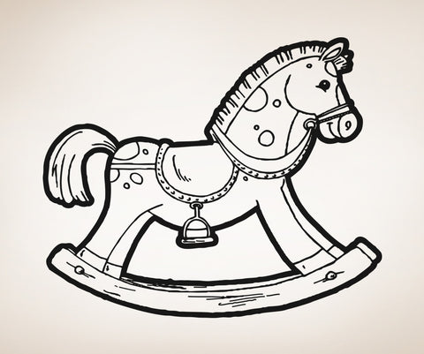 Vinyl Wall Decal Sticker Toy Rocking Horse #OS_AA280