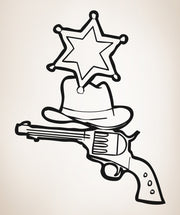 Vinyl Wall Decal Sticker Sheriff #OS_AA425
