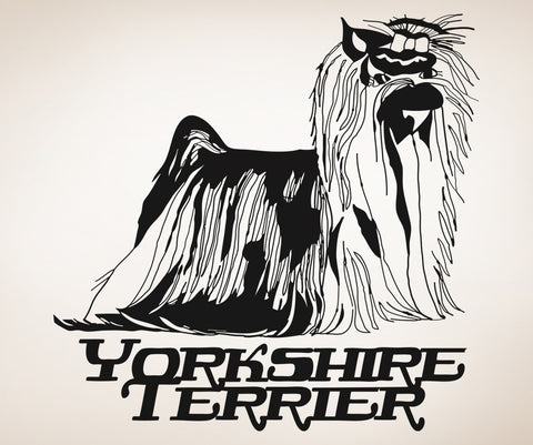 Vinyl Wall Decal Sticker Yorkshire Terrier #OS_AA634