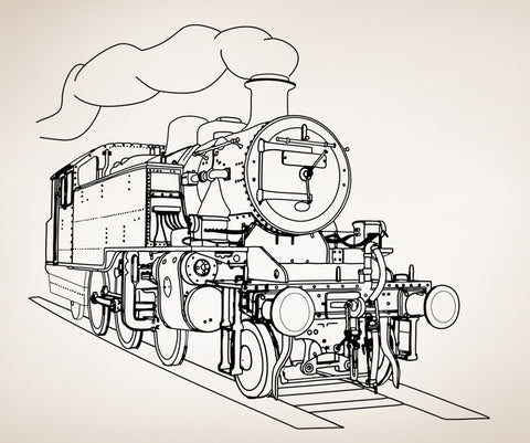 Steam Engine Train Vinyl Wall Decal Sticker. #OS_AA211