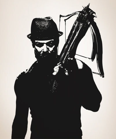 Vinyl Wall Decal Sticker Hipster Hunter with Crossbow #OS_AA529
