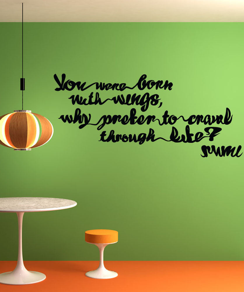 Vinyl Wall Decal Sticker Rumi Quote #OS_MB282