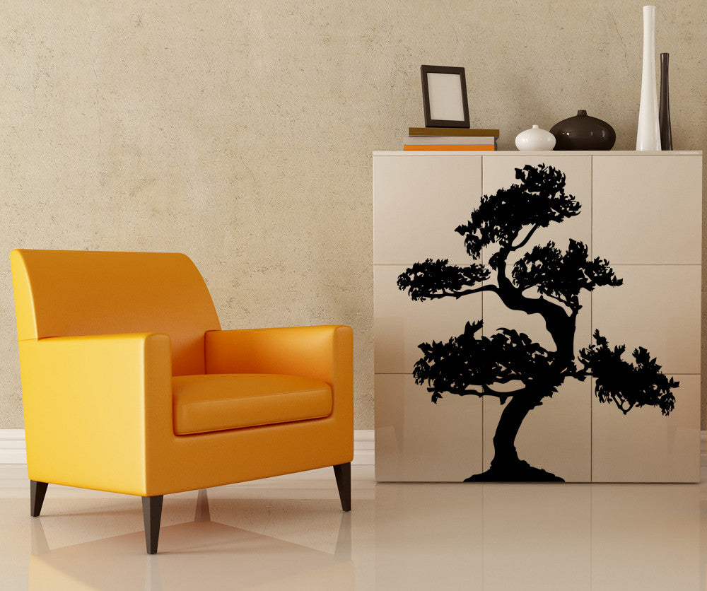 Vinyl Wall Decal Sticker S-shaped Bonsai #AC220