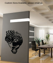Vinyl Wall Decal Sticker Floral Skull #845