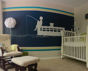 Vinyl Wall Decal Sticker Kids Fishing Off Peer #GFoster175