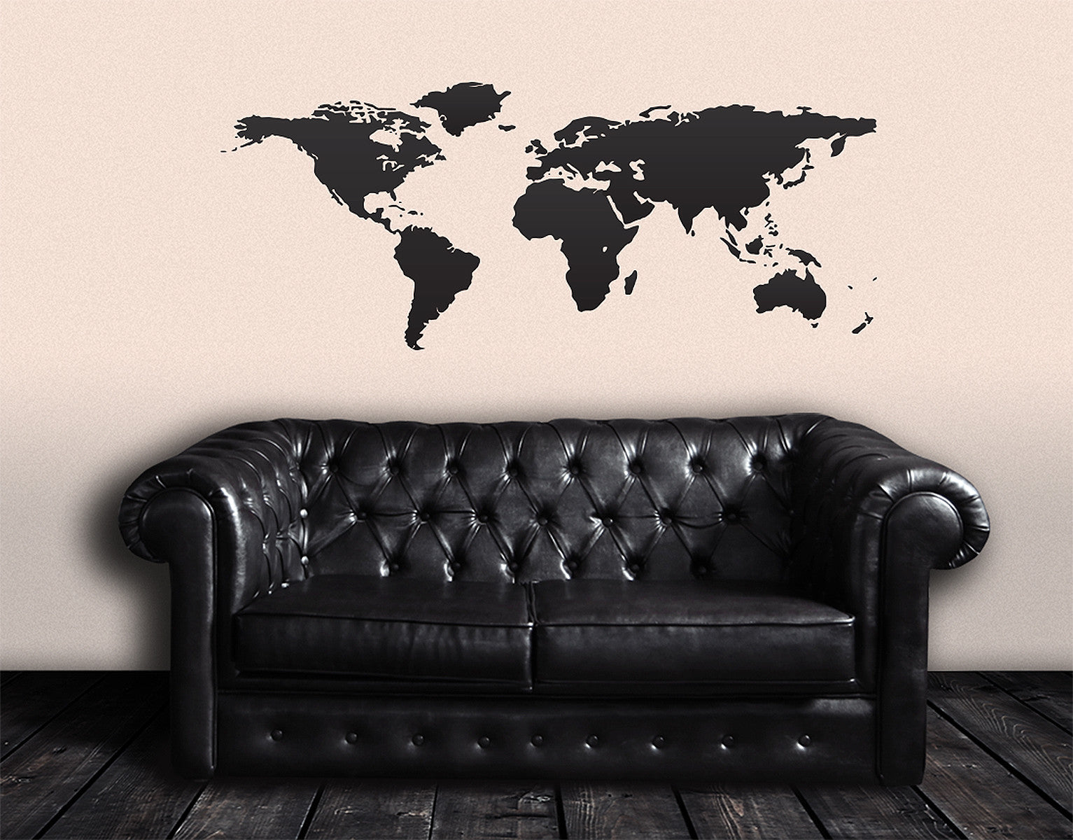 World map wall decal great living room decor 131 gumiabroncs Image collections
