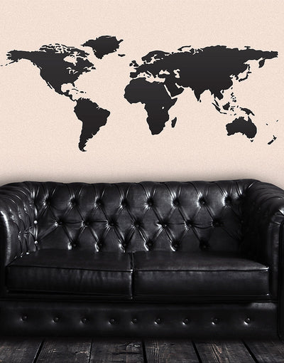 World map vinyl wall decal world map with pins vinyl wall art decal sticker world map 131 gumiabroncs Image collections