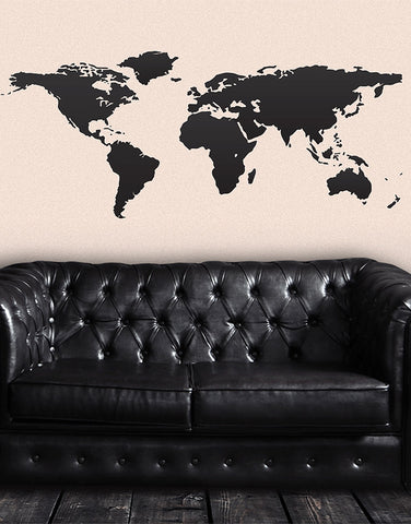 Vinyl Wall Art Decal Sticker World Map #131