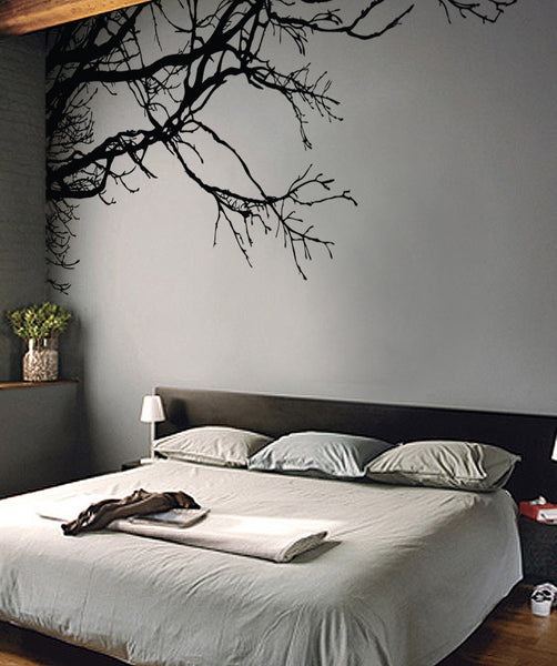 Tree Top Branches Wall Decal. Corner Edge Application Decor.  #444
