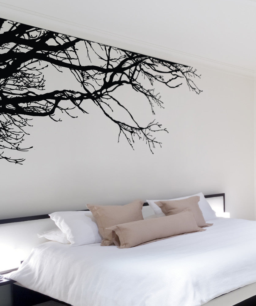 Tree Top Branches Wall Decal. Corner Edge Application Decor. #444 & Tree Branch Wall Decal | Tree Branch Stickers for Walls