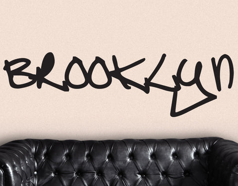 Brooklyn NYC Graffiti Tag Name Wall Decal. #T101