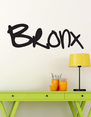 Bronx NYC Graffiti Tag Wall Decal. #T107