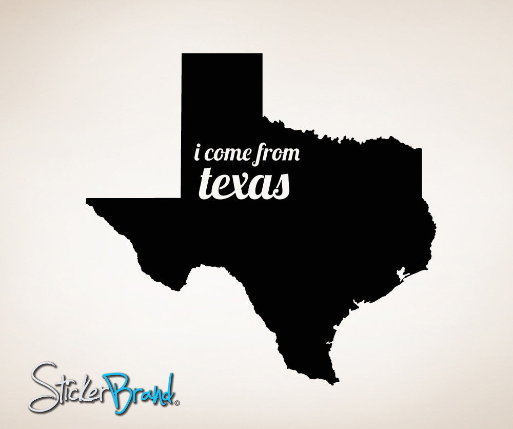 Vinyl Wall Decal Sticker Texas State Map #OS_MB180