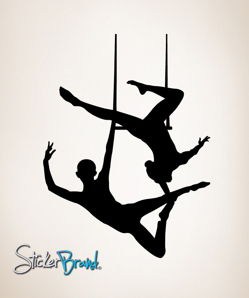 Vinyl Wall Decal Sticker Trapeze Twin #OS_MB194