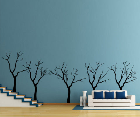 Vinyl Wall Decal Sticker Five Trees #OS_ES108