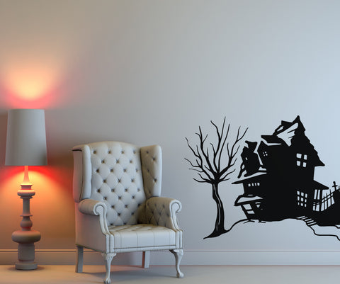 Vinyl Wall Decal Sticker Spooky House #OS_MB652