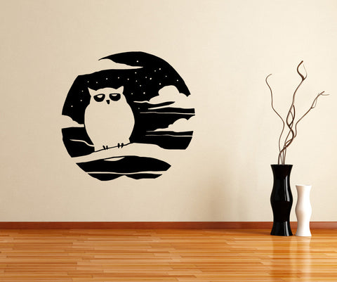 Vinyl Wall Decal Sticker Spooky Owl #OS_MB654