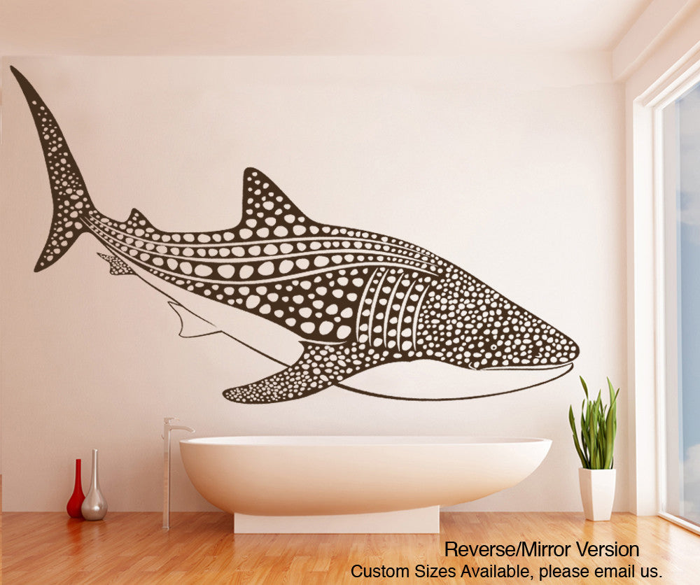 Whale wall decal whale wall stickers stickerbrand vinyl wall decal sticker whale shark oses109 amipublicfo Images