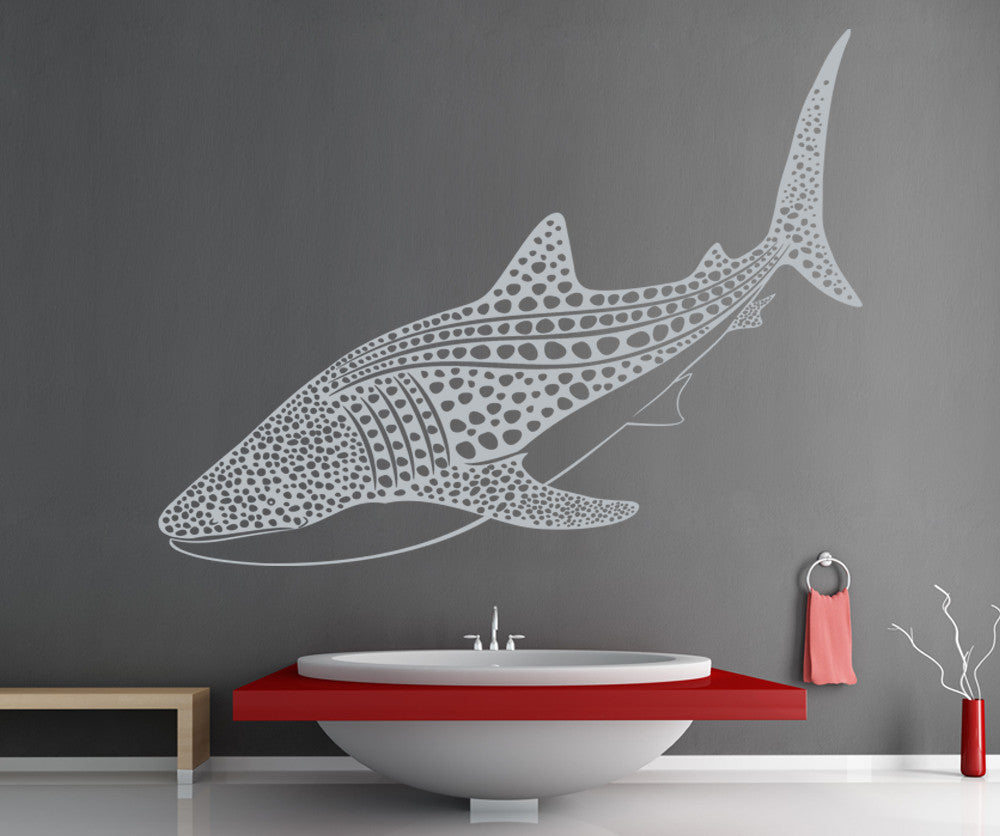 Vinyl Wall Decal Sticker Whale Shark #OS_ES109