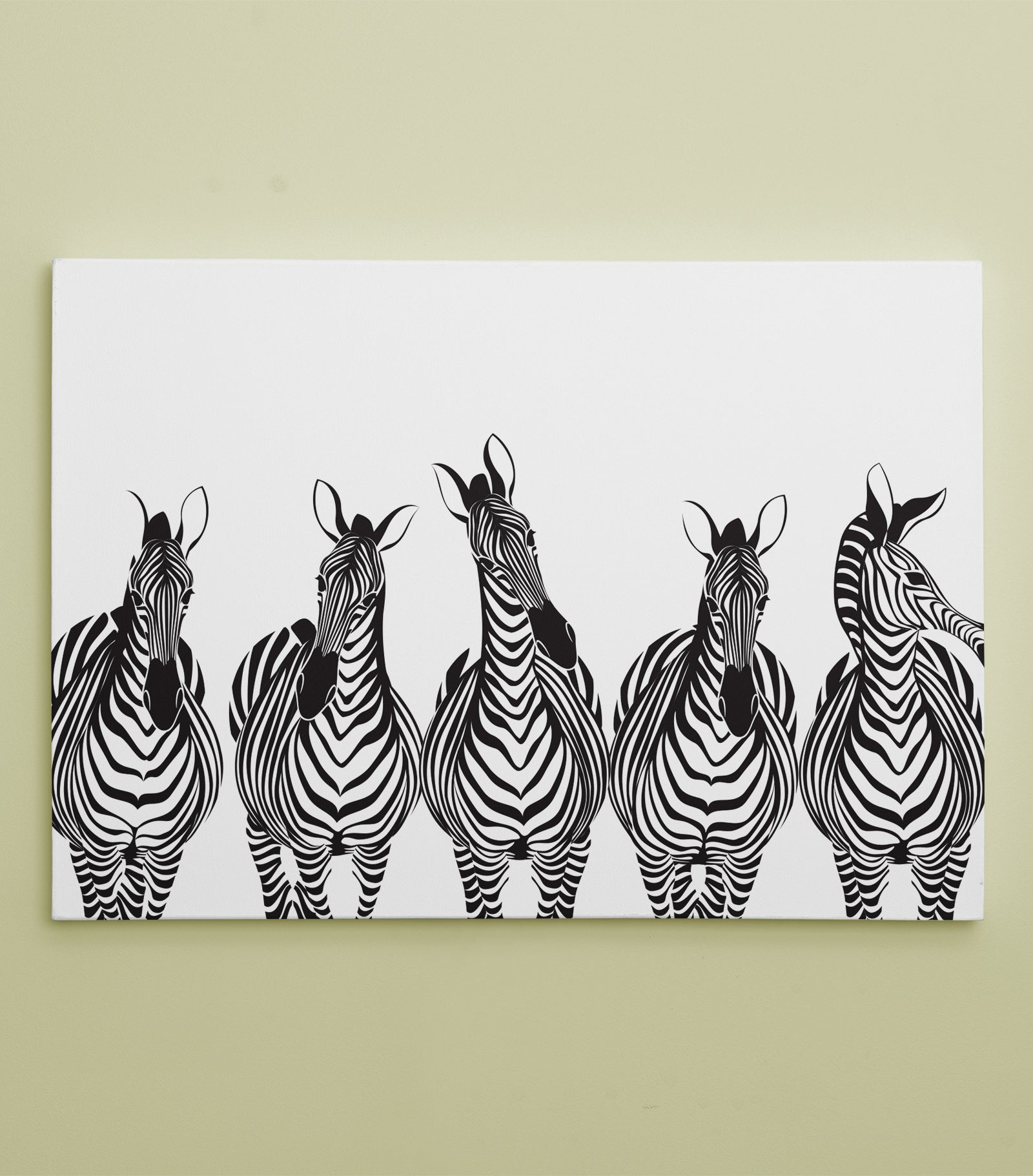 Black and White Stripe Pattern Zebra Art Canvas: by APE CANVAS #C108