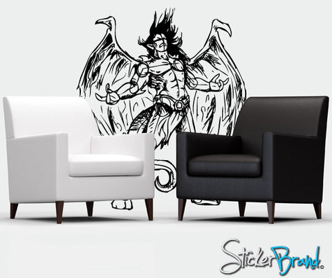 Vinyl Wall Decal Sticker Angels and Demons #776