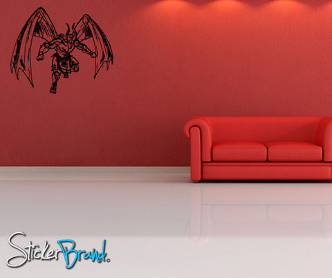 Vinyl Wall Decal Sticker Angels and Demons Wings #778
